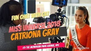 #MissUniverse Catriona Gray's full (RAW & UNEDITED) ABS-CBN News interview PART1 #SUPERFUNINTERVIEW