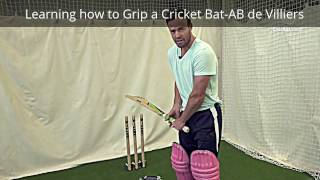 Cricket Videos:How to Grip a bat & Batting Tips by South African Talented Batsman AB de Villiers