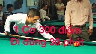 Bán kết bida, Nguyễn Phi Hùng 300 điểm đi 30 phút