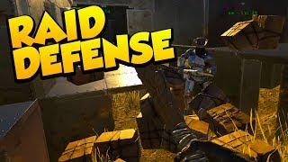 RAID/BASE DEFENSE! - Ark Survival Evolved Island No Fliers PVP #17