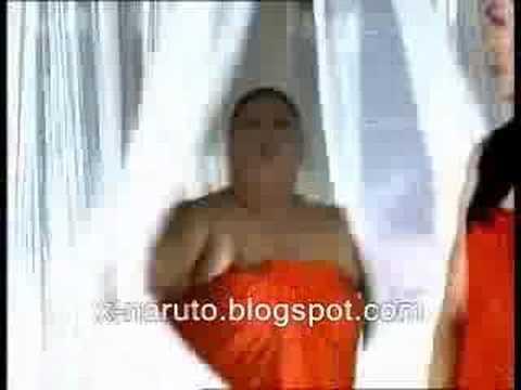 sexy woman massage body man
