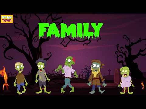 Five Spooky Zombies | Zombie Finger Family | Scary Nursery Rhymes for Kids by Teehee Town