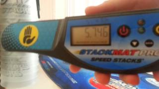 Sport stacking :New cycle record!! 5.746