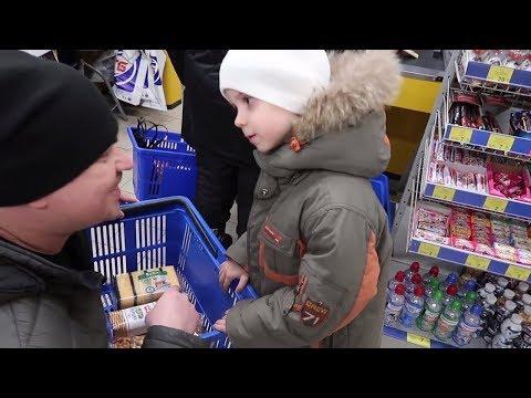 ВЛОГ VLAD с папой делает покупки. СКАНДАЛ  Autism