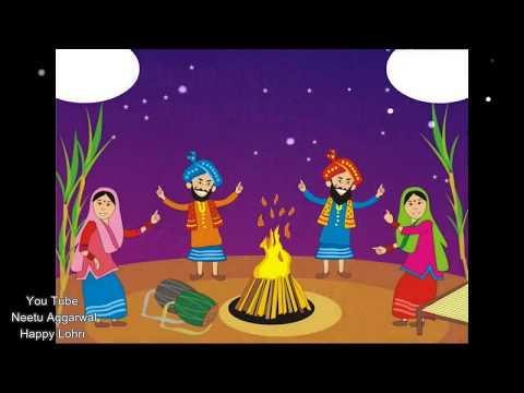 Happy Lohri ,Latest wishes,greetings,SMS, E-card,Sunder Mundriye Ho Tera Kaun Vichara Song