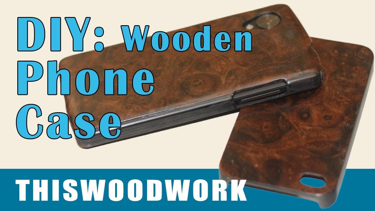 diy wood backed phone case