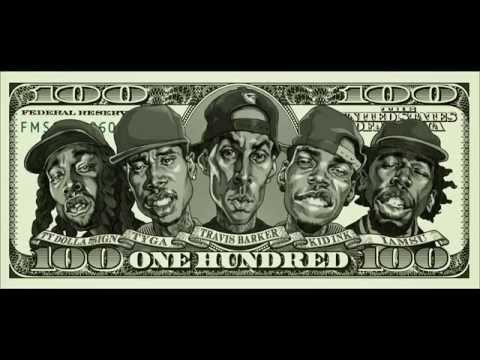 Travis Barker Ft. Kid Ink, Iamsu!, Tyga & Ty Dolla Sign – 100 (Lyric Video)