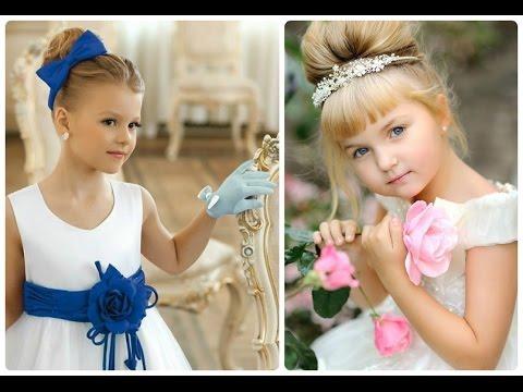 Прическа для девочки на праздник своими руками