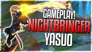 NIGHTBRINGER YASUO SKIN GAMEPLAY!! HOLY SH*T THIS SKIN!?! Skin Spotlight - League of Legends