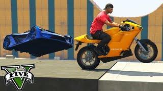 GTA V Online: MOTO vs SUPER CARROS - MITEI 2x DE MOTO!!!