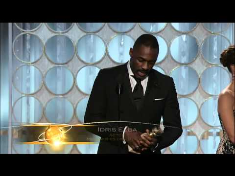 Idris Elba Wins Best Actor TV Series - Golden Globes 2012