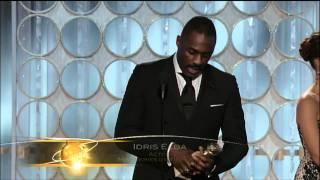 Idris Elba Wins Best Actor TV Series - Golden Globes 2012