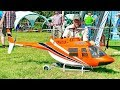 HUGE RC SCALE MODEL ELECTRIC HELICOPTER BELL-206 JETRANGER FLIGHT DEMONSTRATION