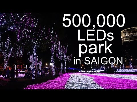 Saigon, Vietnam Night Life: LED PARK AEON MALL