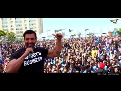 John Abraham live @ Chandigarh university (rocky handsome promotion event)