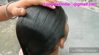 Hair braid Oiled braid Water dripping on braid Wet braid hairplay - longhairindia18@gmail.com