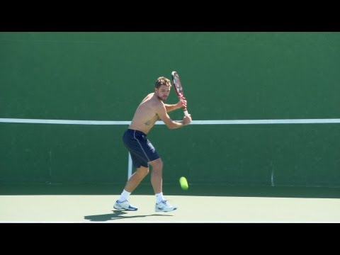 Stanislas Wawrinka Forehand and Backhand - Indian Wells 2013 - BNP Paribas Open