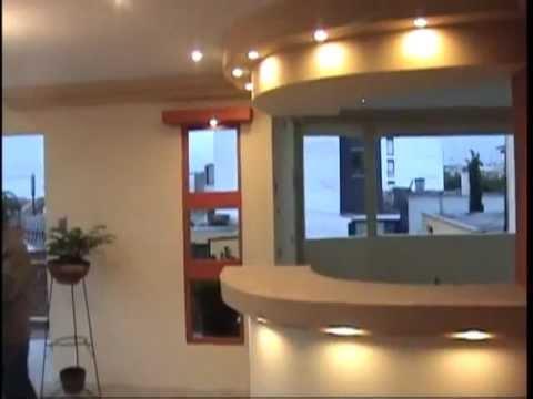 Drywall alcasa youtube for Modelos de techos para galerias