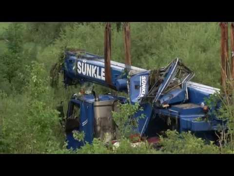 Crane Accident Germany Liebherr LTM Mobile Fail accidente con grúa