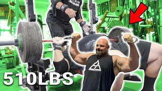 510LB BENCH PRESS FOR REPS | ROAD TO A 701LB BENCH