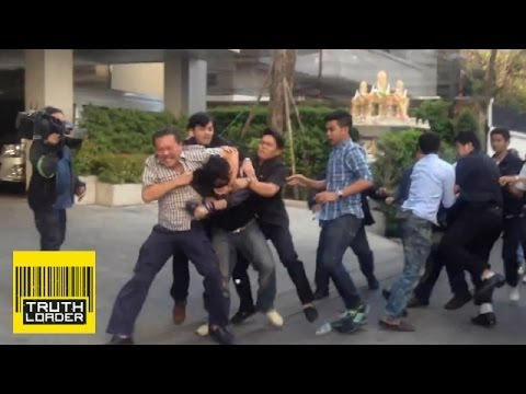 Thai politician fights opposition protester - Truthloader