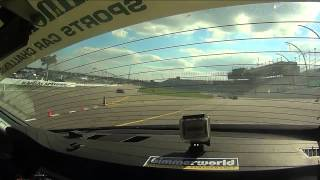 BimmerWorld Racing Connor Bloum BMW E90 328i Kansas Speedway Re-Start 2013