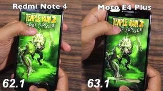 Moto E4 Plus vs Redmi Note 4 Speed Test, Multitasking, and NAND Storage Comparison