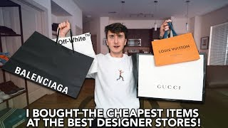 "I Bought The CHEAPEST Items From Gucci, ""OFF-WHITE"", Louis Vuitton & Balenciaga!"