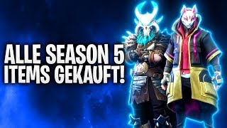 ALLE SEASON 5 ITEMS GEKAUFT! 🔥 LEVEL 100! | Fortnite: Battle Royale
