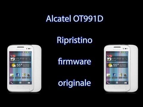 Alcatel Onetouch 991D - Ripristino firmware originale
