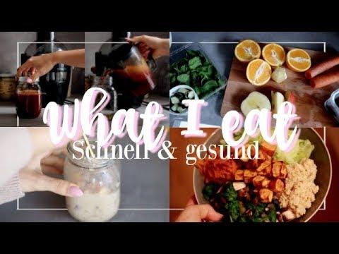 WHAT I EAT IN A DAY   schnell & gesund