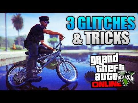 GTA 5 ONLINE - 3 NEW GLITCHES & TRICKS! (Hover Glitch, Super Launch Glitch & Secret Location)