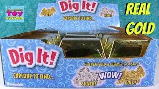 Digging For Gold Dig it Surprises Inside Treasure Gold Bar | PSToyReviews