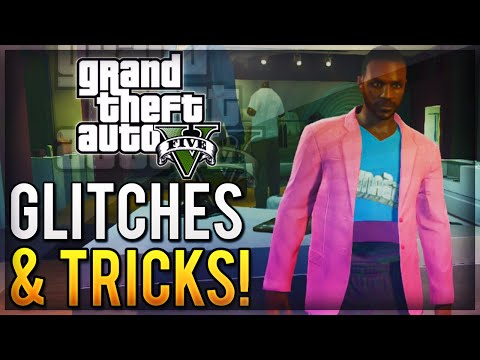 GTA 5 Online - 4 Glitches & Tricks Online (Invisible Stomach, Super Speed, Fence Skateboard & More) klip izle