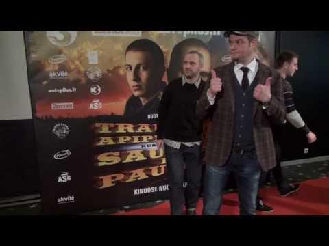 """Filmo """"Traukinio apiplėšimas, kurį įvykdė Saulius ir Paulius"""" premjeros svečiai"""
