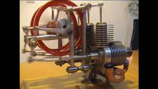 stirling engine-gama,Three Cylinder Stirling Engine,moteur Stirling ,stirling motor,