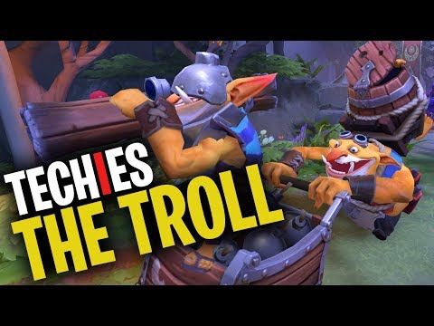 Techies the Troll - DotA 2 Funny Moments