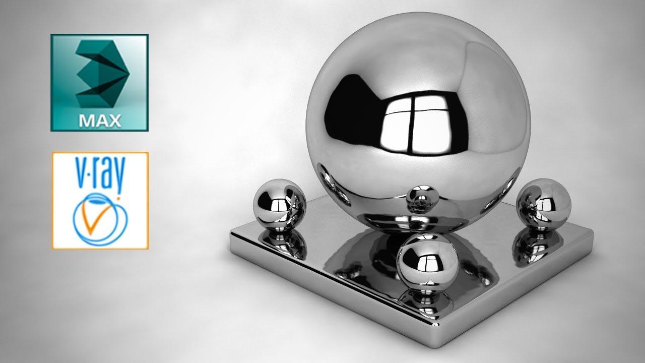 3ds Max Creando Acero  Cromo Y Aluminio Con V-ray