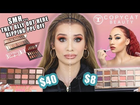 BHAD BHABIE COPYCAT BEAUTY REVIEW! *Full Face Comparison*