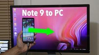 Transform Your Samsung Galaxy Note 9 into a full blown PC via Samsung DEX