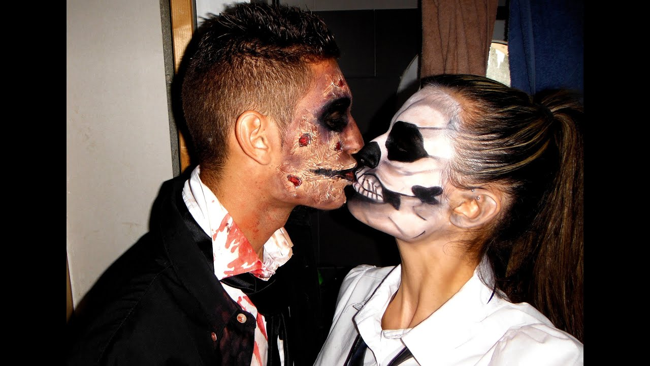 Tuto 7 maquillage halloween squellette skeleton makeup youtube - Tuto maquillage halloween ...