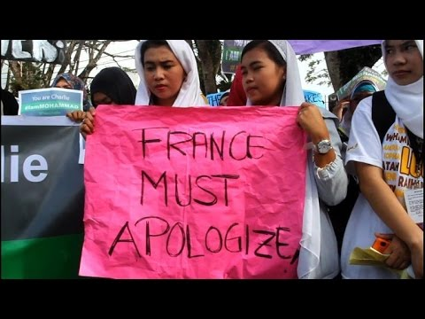 Muslims in Philippines march against Charlie Hebdo