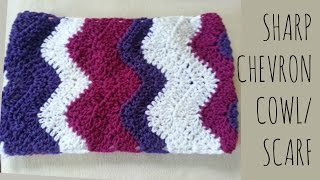 Sharp Chevron | Crochet Pattern | Scarf Tutorial