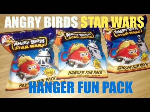 Blind Bag Mystery 032 Angry Birds Star Wars Hanger Fun Pack Mini Figure + Stickers