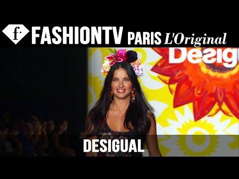 Desigual ft Adriana Lima, Spring/Summer 2015 Runway Show | New York Fashion Week NYFW | FashionTV