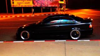 BMW E36 Coupe 2JZ GTE - HKS F-Con V Pro [Side View]