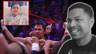 Heart Bigger Than His Punch Manny Pacquiao Special Guest At Thurman Fight