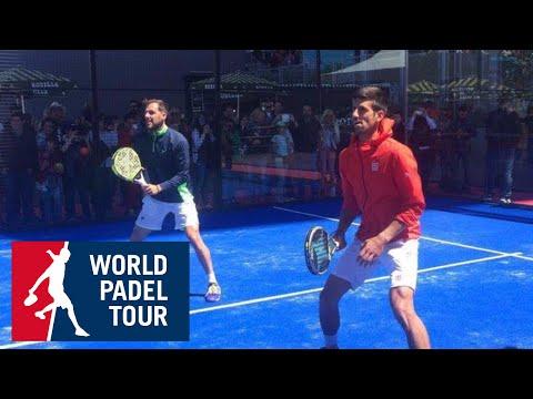 Novak Djokovic juega al pádel en el Madrid Mutua Open | World Padel Tour 2016
