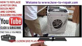How to replace a washing machine motor on a Bosch, Neff, Siemens or Balay