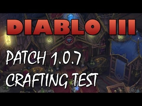 Diablo 3: Patch 1.0.7 Crafting Testing - Rolling Trifectas!